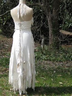 Reserved for Hazma Leather Wedding Dress Native American Inspired ...
