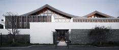 The large, triple-height central hall was built to connect the hotel to the natural surroundings of the site in the city of Shaoxing, fusing traditional Chinese architectural elements with modern forms and materials. Architecture Design, Architecture Wallpaper, Concept Architecture, Architecture Tattoo, Sustainable Architecture, Landscape Architecture, Ancient Chinese Architecture, Classical Architecture, Great Buildings And Structures