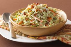 Ranch-Style Coleslaw with Bacon recipe i think i may just start eating more coleslaw mixes rather than my romaine and spinich salads