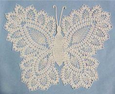 Maggie's Crochet · Butterfly Doily 2 Crochet Pattern