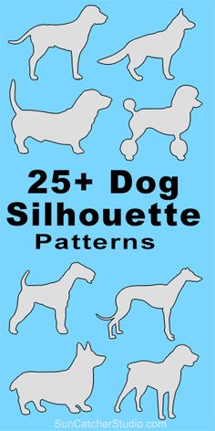 CHIEN ET . Dog breeds silhouettes patterns, stencils, and templates for coloring, scroll saw, laser cutting. Wood Carving Patterns, Stencil Patterns, Wood Patterns, Stencil Designs, Stencil Templates, Cross Patterns, Silhouette Images, Dog Silhouette, Silhouette Projects