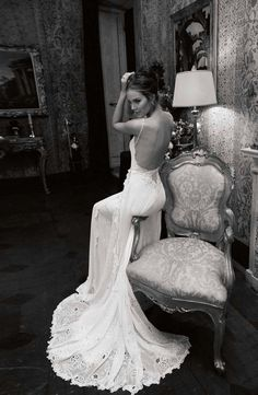 Beautiful dress and the B&W photos are fabulous