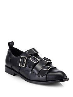 Comme des Garcons Leather Buckle Loafers - OMG!!! Edward Scissorhands shoes!!!!!