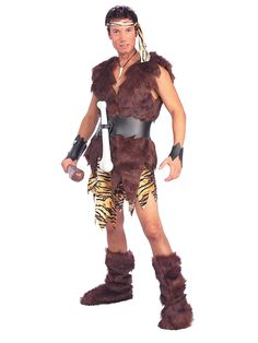 To throw the perfect caveman party, you will need to look the part. Caveman or Flinstones costumes and accessories are available at a costume store or online. Wholesale Halloween Costumes, Costumes For Sale, Adult Costumes, Men's Costumes, Caveman Halloween Costume, Adult Halloween, Halloween Ideas, Halloween 2018, Halloween Stuff