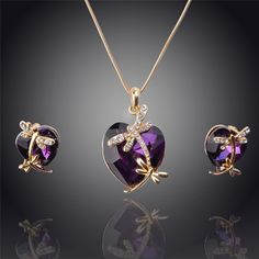 ~*~ Women 14k #Gold Filled Austrian #Crystal Animal Pendant Four colors #Necklace ~*~