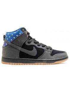 4e3676d1 Dunk High Premium Sb Stars Black, Black-Dark Royal Blue 313171-022 Nike