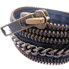 rock n' roll zipper bracelet
