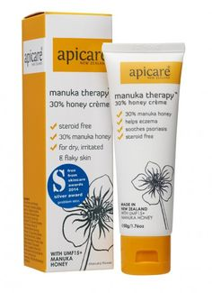 This unique formula contains UMF Manuka honey to soothe and calm dry, irritated and flaky skin. The large percentage of Manuka honey in this crème maximizes the healing properties of this amazing natural ingredient. Flaky Skin, Manuka Honey, Moisturizer, Therapy, Healing, Skin Care, Personal Care, Popular, Cream