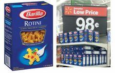 Barilla Pasta, Only $0.48 at Walmart!