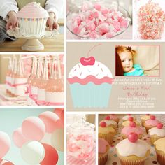 Pink cupcake party for a little girl!