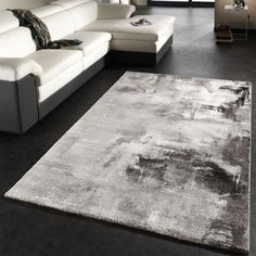 Borough Wharf Teppich Saunders in Grau/Schwarz/Weiß Carpet Diy, Shag Carpet, White Carpet, Green Carpet, Modern Carpet, Carpet Colors, Carpet Decor, Textured Carpet, Patterned Carpet