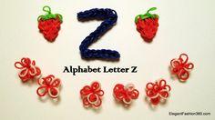 Alphabet Letter Z on Rainbow Loom