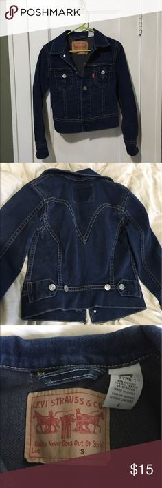 Levis Jean Jacket Used like new. Found in mom's closet of stuff she doesn't want. Doesn't even look like it's been washed because the color is so vibrant and even throughout. levis Jackets & Coats Jean Jackets