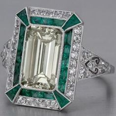 Engagement Ring Designs Emerald Cut 16