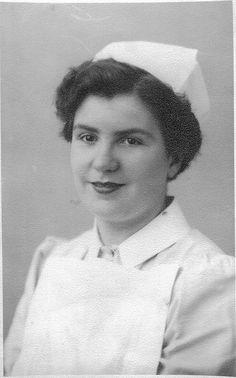 A nurse at the Abergele Hospital (a TB sanatorium), UK, 1950s
