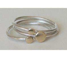 simple and cute dot stacking bangles