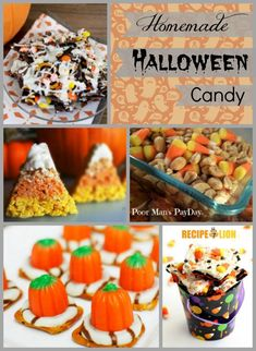 37 Inexpensive Halloween Candy Ideas including Leftover Halloween Candy Bark and Chocolate Marshmallow Spiders.