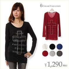 クロスプリントTシャツ