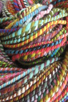 such pretty handspun yarn Crochet Yarn, Knitting Yarn, Knitting Patterns, Spinning Yarn, Hand Spinning, Yarn Inspiration, Design Inspiration, Yarn Stash, Yarn Bombing