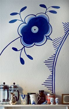 Royal Copenhagen Sweater pattern by Danish Knitting Academy by Karen Krogsgaard Royal Copenhagen, Copenhagen Design, Painted Rocks, Hand Painted, Blue And White China, Arte Popular, Delft, Danish Design, Interior Inspiration