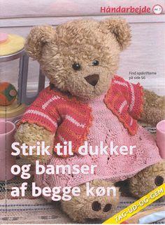 Strikket til dukker & bamser af begge køn - Mariann Vendelbo Borregaard - Веб-альбомы Picasa Knitting Dolls Clothes, Doll Clothes, Build A Bear, Baby Born, Stuffed Toys Patterns, Doll Toys, Knitting Patterns, Archive, Animals