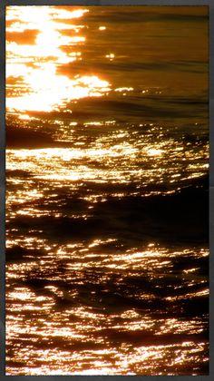 sunset on water, Hawaii