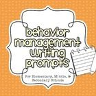 FREE! These 10 writing prompts are fantastic to use when students are displaying or have displayed poor behavior throughout the school day. While the pro...