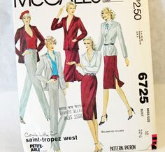 Vintage 1970s Sewing Pattern McCall's 6725 by Old2NewMemories
