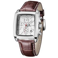 Megir Herren-Armbanduhr Chronograph Quarz, Analog-Display, braunes Lederband - http://autowerkzeugekaufen.de/megir/megir-herren-armbanduhr-chronograph-quarz