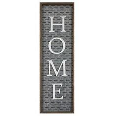 "Farmhouse ""Home"" Galvanized Metal Wall Decor"