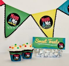 LDS Activity Days Mom and Me activity printables:  cupcake wrappers, bunting flags and treat toppers!  Got to have a Mom and Me for your girls!