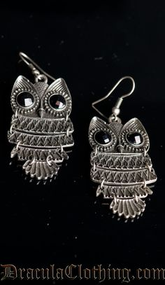 Grey Owl Earrings @Mindy Cunningham
