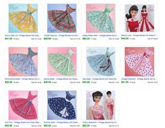 Vintage Barbie Doll Dress Reproduction Barbie Clothes on eBay http://www.ebay.com/usr/fanfare1901?_trksid=p2047675.l2559