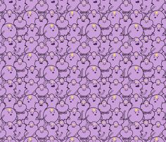 Purple Princesses fabric by elsielevelsup on Spoonflower - custom fabric