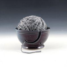 Yarn Bowl by DanSaultman on Etsy https://www.etsy.com/listing/234701184/yarn-bowl