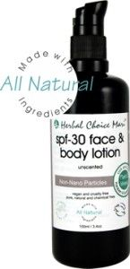 Free facial lotion soy