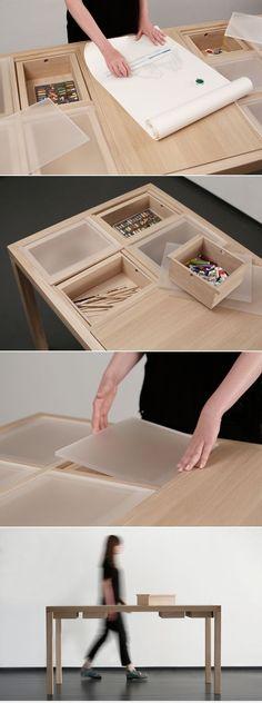 A Perfect Working Desk for Artist | Workbench | Laura Mrkša