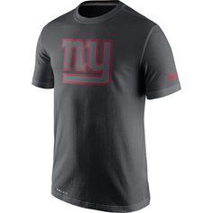 560fbe886 Men s New York Giants Nike Anthracite Travel Performance T-Shirt