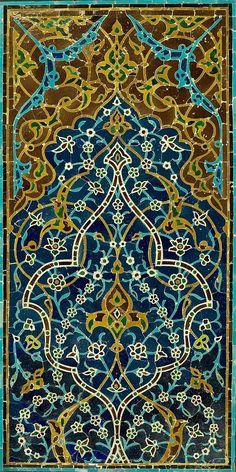File:Unknown, Iran - Mosaic Tile Panel - Google Art Project.jpg