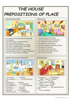 THE HOUSE - PREPOSITIONS OF PLACE worksheet - Free ESL printable worksheets made by teachers