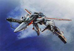 Macross, Valkyrie, by tenjin hidetaka Macross Valkyrie, Robotech Macross, Sci Fi Anime, Manga Anime, Gundam, Transformers, 80s Cartoon Shows, Macross Anime, Cultura Nerd