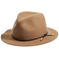 Rag & Bone Wool  Fedora found on Polyvore featuring accessories, hats, camel, band hats, fedora hat, wool fedora, wool fedora hat and camel hat