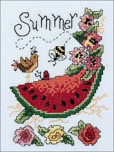 """Size: Approximately 5"""" x 7"""" when stitched on 14-count fabric. Skill Level: Intermediate"""
