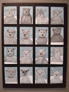 Winter Art - a faithful attempt: Chalk Polar Bears