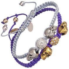 Devora Libin Poppy Skull Macramé Bracelet
