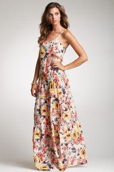 Zoa Floral Print Maxi Dress