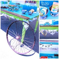 Grab Your Helmets, It's A Bike Party! Simple ideas for a budget party for boys and girls! -- Design Dazzle