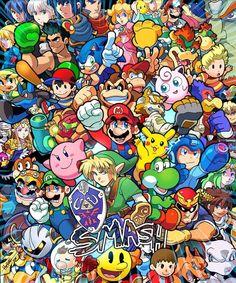 Nintendo Games Anime Home Decor Wall Scroll Pokemon The Legend of Zelda Super Smash Bros, Super Mario Bros, Pokemon, Deco Gamer, Interaction Design, Video Game Art, Nintendo Games, Nintendo Characters, Super Nintendo