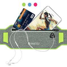 4937a4a3f1e Running Waist Belt Pack AIWEISI Lightweight Sweatproof Sport Belt Bag Fits  for iphone 6 6s 7 Plus Galaxy S5 S7 Honor 8 Studio X8 for Men Women with  Hidden ...