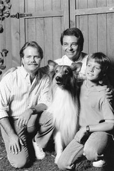 """Lassie's three pals: Jon Provost (who played """"Timmy Martin"""" from 1957-1964); Tommy Rettig (who played """"Jeff Miller"""" from 1954-1957); and Will Estes (who played """"Will McCullough"""" on """"The New Lassie"""" in 1989-90)."""